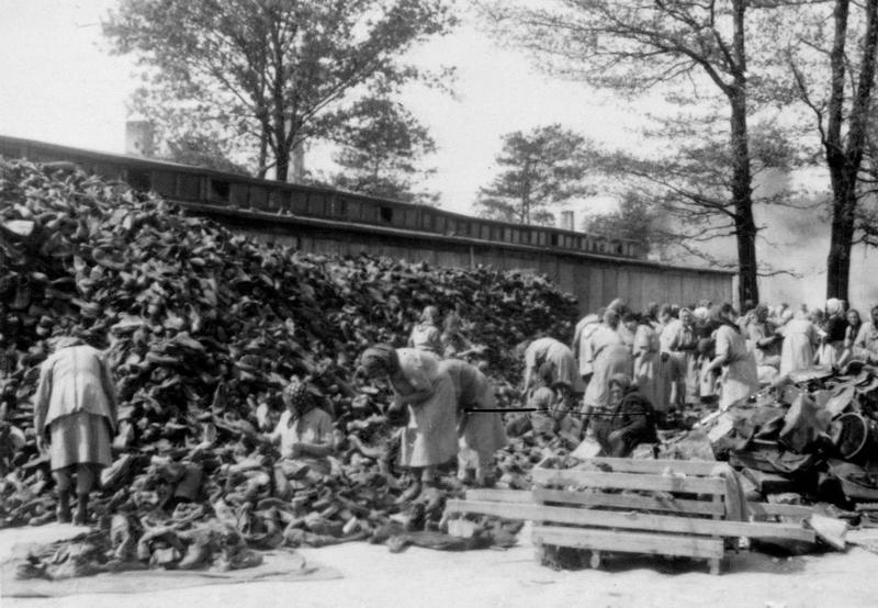 Storage for confiscated items in Auschwitz. Prisoners called it Canada.