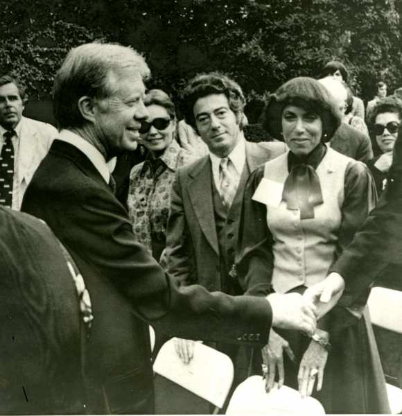 Siggi Shaking Hands with President Carter