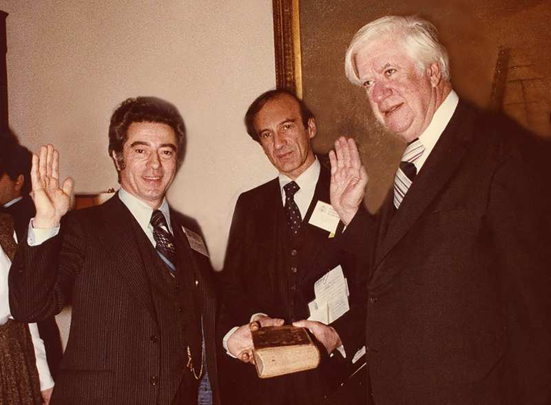 Siggi with Elie Wiesel and Tip O'Neill