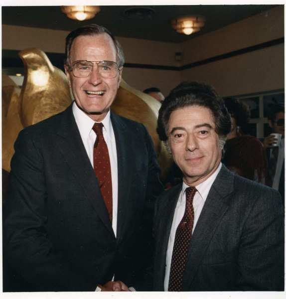 Siggi with President George H. W. Bush