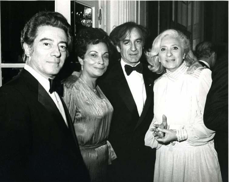 Siggi and Naomi Wilzig with Elie and Marion Wiesel